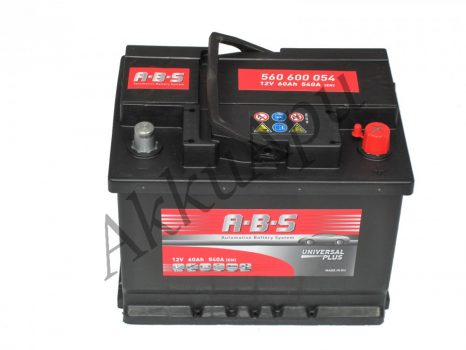 ABS 60Ah 560600054 akkumulátor