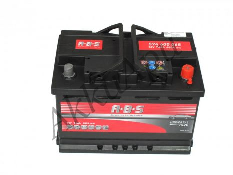 ABS 74Ah 574600068 akkumulátor