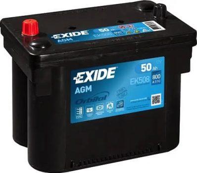 Exide 50Ah EK508 akkumulátor