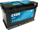 Exide 80Ah EK800 akkumulátor