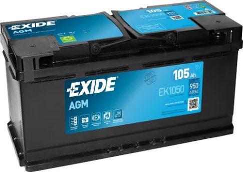 Exide 105Ah EK1050 akkumulátor