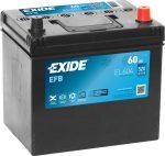 Exide 60Ah EL604 akkumulátor