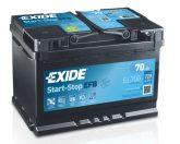 Exide 70Ah EL700 akkumulátor