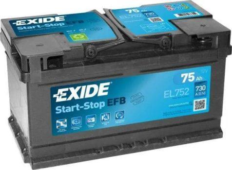 Exide 75Ah EL752 akkumulátor