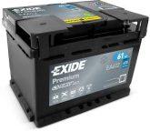 Exide 61Ah EA612 akkumulátor