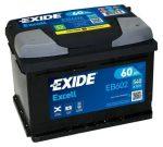 Exide 60Ah EB602 akkumulátor