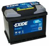 Exide 62Ah EB620 akkumulátor