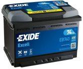 Exide 74Ah EB740 akkumulátor