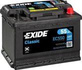 Exide 55Ah T55(EC550) akkumulátor