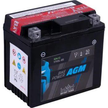 IntAct 12V 4Ah AGM Jobb+ Motor Akkumulátor