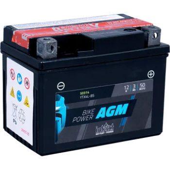IntAct 12V 3Ah AGM Jobb + Motor Akkumulátor