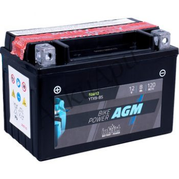IntAct 12V 8Ah AGM Bal+ Motor Akkumulátor