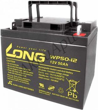 Long 12V 50Ah WP50-12NE Jobb+ Kerekesszék akkumulátor