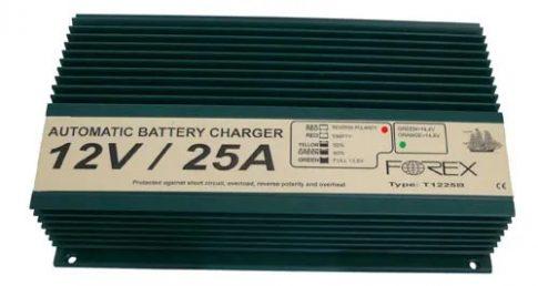 Forex T1225B Akkumulátor Töltő 12V 25A