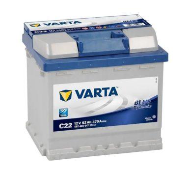 Varta 52Ah 5524000473132 akkumulátor